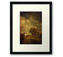 Little vineyard house Framed Print