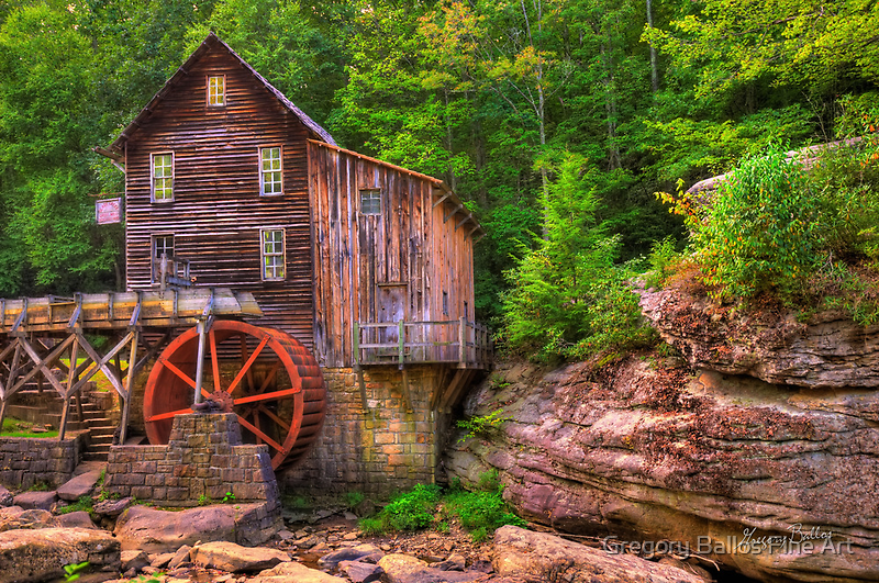 The Glade Creek Grist Mill - Layland, WV by Gregory Ballos   gregoryballosphoto.com