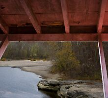 Covered Bridge Window View  by Adam Bykowski