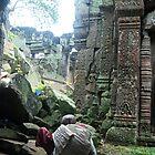 Monk at Angkor by Sergey Kahn