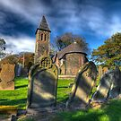 Shady Graveyard - Isle of Man by Richard  Cubitt