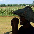 Vietnamese Farmer Working The Fields  by Sergey Kahn