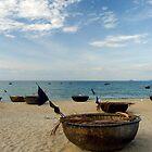Basket Boats on the Beach by Sergey Kahn