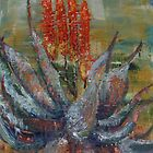 Aloes - a flame of red  by Gigi Guimbeau
