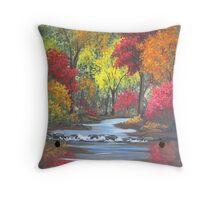 Autumn Stream Throw Pillow