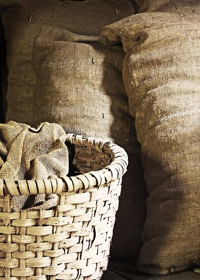 Basket and Feed Sacks by Widcat