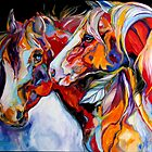 TWO SPIRITS EQUINE SOUTHWEST ORIGINAL by MARCIA BALDWIN by MARCIA BALDWIN