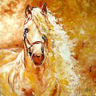 GOLDEN GRACE EQUINE ART ORIGINAL by MARCIA BALDWIN by MARCIA BALDWIN