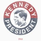 Vintage 1960 Kennedy for President T-Shirt by flippinsg