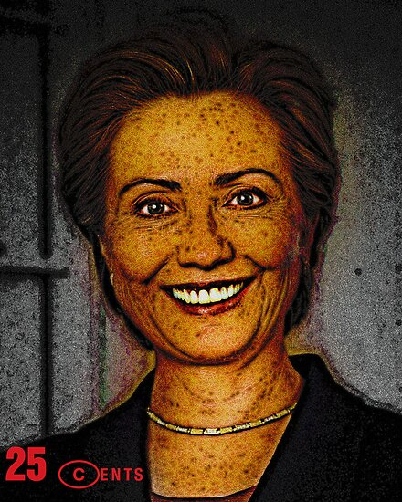 The Hillary Rodham Clinton 25¢ Postage Stamp by David Rozansky