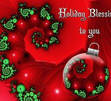 Holiday Blessings Card by rocamiadesign