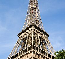 Eiffel Tower Basking in the morning sunshine. by Russell Bruce