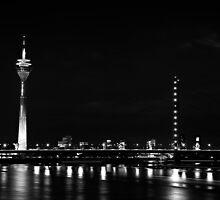 Rheinturm Nights BW by Andy Freer