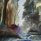 Stream & Forest by JRobinWhitley