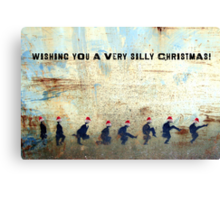 Ministry of Silly Christmas - WITH TEXT Canvas Print