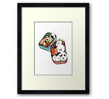kawaii Bento Box Framed Print