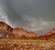 Rainbow over Grand Wash, Capitol Reef by Clayhaus