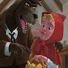 little red riding hood with nasty wolf by martyee