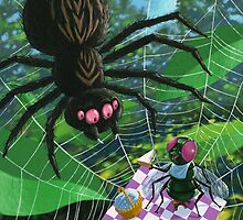 spider web picnic by martyee