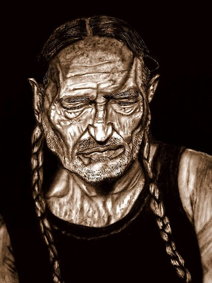 Willie Nelson by Herbert Renard