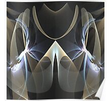 The mirrored abstract Poster