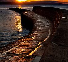 Golden sunrise over Lyme Regis Cobb by Shaun Whiteman