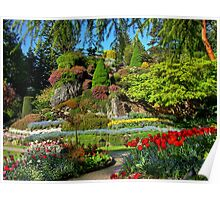 BUTCHART Gardens in Spring, Poster