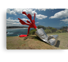 Red Paint Tube @ Sculptures By The Sea Metal Print