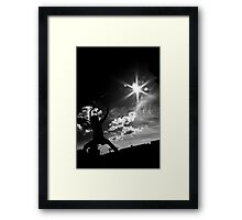 My son  the Karate Kid  Framed Print