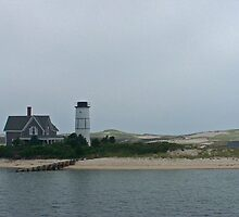 Sandy Neck Lighthouse - Cape Cod by Nina Brandin