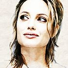 Angelina Jolie Portrait by wu-wei