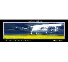 Lightning Of Ruin Panorama Photographic Print