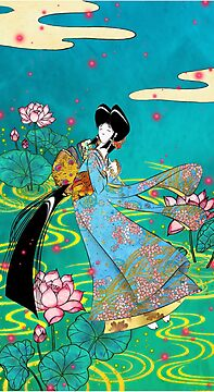 Japanese Woman - Lotus by Saing Louis