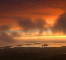 Sunrise From Cadillac Mountain by Stephen Vecchiotti