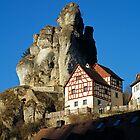 Dramatic rock formation, Tüchersfeld, Franconia, Germany, by David A. L. Davies