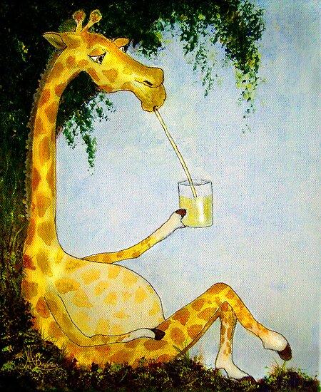 Gerald's Afternoon Sip by Angela  Burman