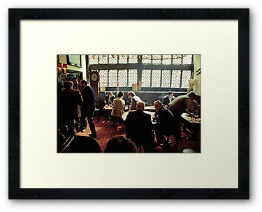 Busy lunch-time pub scene, Aylesbury, UK, 1980s by David A. L. Davies