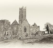 Quin Abbey, Panoramic, County Clare, Ireland by upthebanner