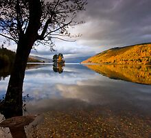 Scotland: Autumn on Loch Tay by Angie Latham