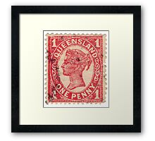 Queen Victoria Stamp Framed Print