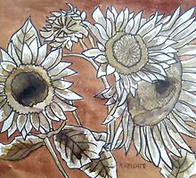 Copper Sunflowers by Alexandra Felgate