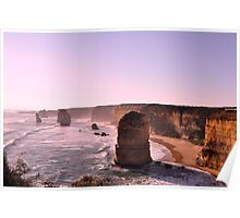 Late Afternoon - 12 Apostles, Great Ocean Road, Victoria Poster