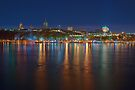 Night View of the Quebec City Skyline II by Stephen Beattie