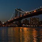 manhattan bridge at night by marianne troia