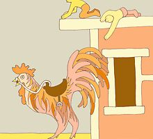 Apricot Rooster, short version by Jenny Hoople