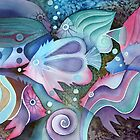 Watercolour fishes by Karin Zeller