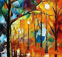 WISDOM OF NIGHT - Original Art Oil Painting By Leonid Afremov by Leonid  Afremov