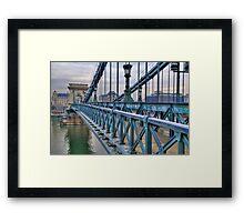 Széchenyi lánchíd (bridge) Framed Print