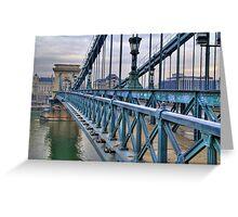 Széchenyi lánchíd (bridge) Greeting Card