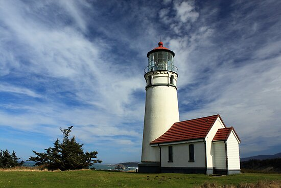The Lighthouse At Cape Blanco by James Eddy